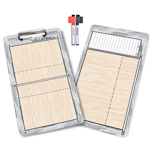 GoSports Volleyball Coaches Boards - 2 Sided Premium Dry Erase Clipboards Coaches Board playgosports.com