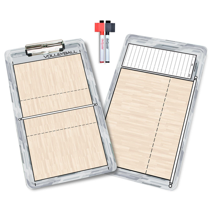 GoSports Volleyball Coaches Boards - 2 Sided Premium Dry Erase Clipboards