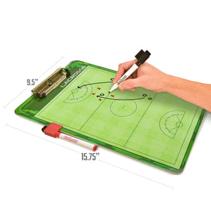 GoSports Women's Lacrosse Coaches Board | Double Sided Dry Erase Surface with 2 Pens Coaches Board playgosports.com