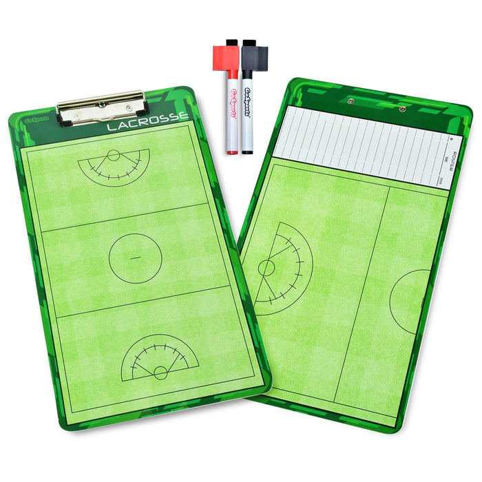 GoSports Women's Lacrosse Coaches Board | Double Sided Dry Erase Surface with 2 Pens