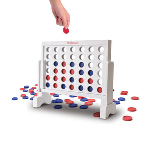 GoSports Premium Solid Wood 4 in a Row Game with Carrying Case - 1 Foot Width 4 in a Row playgosports.com