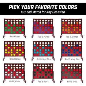 GoSports Giant Four in a Row Replacement Game Coins | For GoSports 3' Size Game Sets Only | Set of 21 Coins - Red 4 in a Row playgosports.com