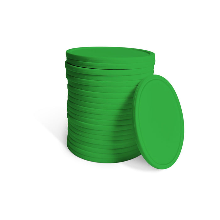 GoSports Giant Four in a Row 21 Replacement Game Coins | For GoSports 3' Size Game Sets Only - Green
