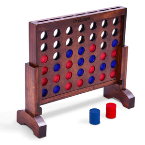 GoSports Premium 4 in a Row Game Dark Wood Stain – 1 Foot Width – with Connect Coins, Portable Case and Rules 4 in a Row playgosports.com