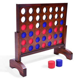 GoSports Giant Dark Wood Stain 4 in a Row Backyard Game – 2 Foot Width – With Connect Coins, Portable Case and Rules 4 in a Row playgosports.com