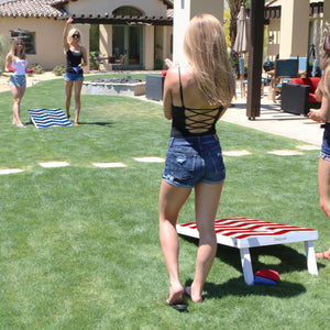 GoSports 3'x2' Chevron Design Cornhole Game Set - Includes Two 3'x2' Boards, 8 Bean Bags and Carry Case Cornhole playgosports.com