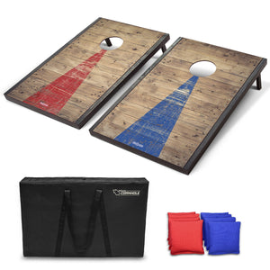 GoSports Classic Cornhole Set with Rustic Wood Finish | Includes 8 Bags, Carry Case and Rules Cornhole playgosports.com