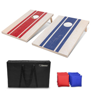 GoSports 3'x2' Wood Design Cornhole Game Set - Includes Two 3'x2' Boards, 8 Bean bags, and Carry Case Cornhole playgosports.com