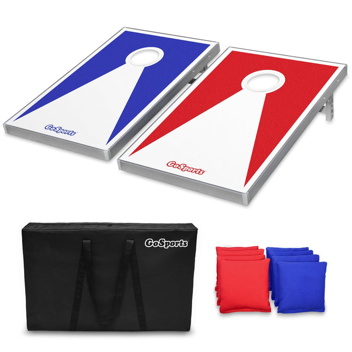 GoSports Classic Cornhole Set Includes 8 Bags, Carry Case and Rules