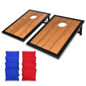 GoSports Premium Wood Cornhole Set with Powder Coated Frame, 8 Bags Cornhole playgosports.com