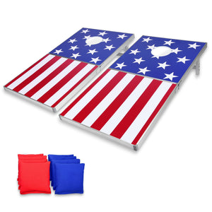 GoSports Cornhole PRO Regulation Size Bean Bag Toss Game Set | American Flag Design Cornhole playgosports.com