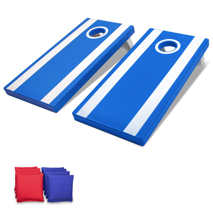 GoSports Blue 4'x2' All Weather Cornhole Game Set  - Includes 8 Bags & Game Rules