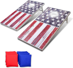 GoSports LED American Flag Cornhole Set, Regulation Size Cornhole playgosports.com
