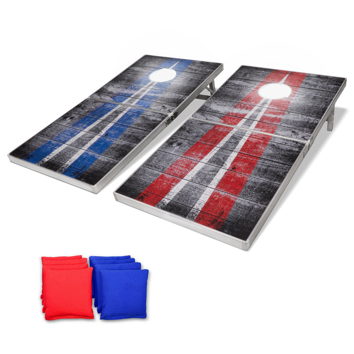 GoSports LED Rustic Design Cornhole Set, Regulation Size