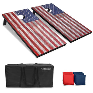 GoSports American Flag Regulation Size Cornhole Set Includes 8 Bags, Carry Case & Rules Cornhole playgosports.com