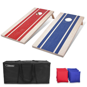 GoSports 4'x2' Regulation Size Wood Design Cornhole Game Set - Includes 8 Bags, Carry Case & Rules Cornhole playgosports.com