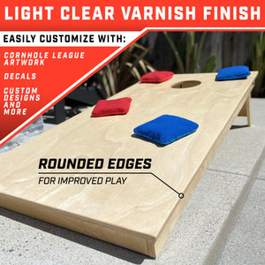 GoSports Tournament Edition Regulation Cornhole Game Set | 4' x 2' Wood Boards with 8 Dual Sided (Slide and Stop) Bean Bags Cornhole playgosports.com