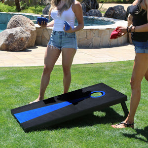 GoSports Dark Regulation Size Solid Wood Cornhole Set - Includes Two 4' x 2' Boards, 8 Bean Bags, Carrying Case and Game Rules Cornhole playgosports.com
