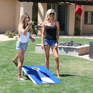 GoSports Light Regulation Size Solid Wood Cornhole Set - Includes Two 4' x 2' Boards, 8 Bean Bags, Carrying Case and Game Rules Cornhole playgosports.com