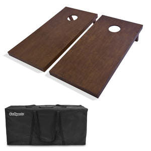 GoSports Regulation Size Wooden Cornhole Set with Brown Finish | Includes Carrying Case Cornhole playgosports.com
