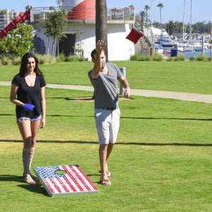 GoSports American Flag Cornhole Bean Bag Toss Game Set (8 Bags per Pack), 3 x 2-Feet Cornhole playgosports.com