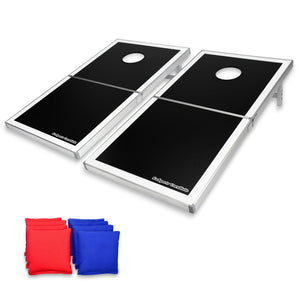 GoSports Cornhole PRO Regulation Size Bean Bag Toss Game Set (Black) Cornhole playgosports.com