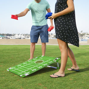GoSports Portable PVC Framed Football Cornhole Game Set with 8 Bean Bags and Travel Carrying Case Cornhole playgosports.com