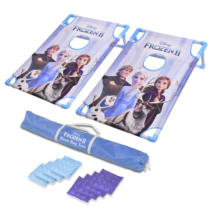 Disney Frozen 2 Bean Bag Toss Game Set by GoSports | Includes 8 Snowflake Bean Bags with Portable Carrying Case