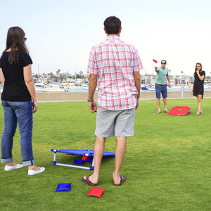 GoSports Portable 3' x 2' PVC Framed Cornhole Game Set with 8 Bean Bags and Travel Carrying Case Cornhole playgosports.com