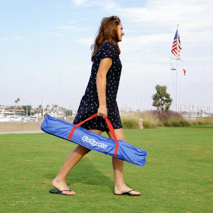 GoSports American Flag Portable PVC Framed Cornhole Game Set with 8 Bean Bags & Travel Carrying Case Cornhole playgosports.com