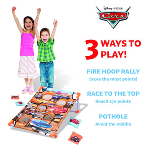 Disney Pixar Cars Fire Hoop Rally Game Set by GoSports| Includes 8 Bean Bags with Portable Carrying Case Cornhole playgosports.com