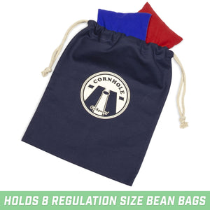 GoSports Navy Cornhole Bean Bag Tote Carry Case Cornhole playgosports.com