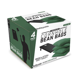 GoSports Official Regulation Cornhole Bean Bags Set (4 All Weather Bags) - Dark Green Cornhole playgosports.com