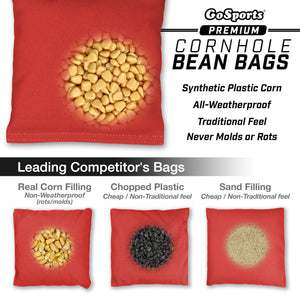 GoSports Official Regulation Cornhole Bean Bags Set (4 All Weather Bags) - Black Cornhole playgosports.com