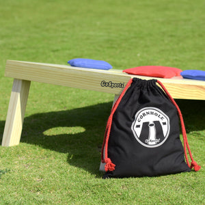 GoSports Official Regulation Cornhole Bean Bags Set (8 All Weather Bags) - Red and Blue Cornhole playgosports.com