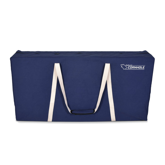 GoSports PRO Grade Canvas Cornhole Case | 4' x 2' Regulation Size | Navy Blue Color