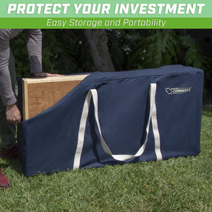 GoSports PRO Grade Canvas Cornhole Case | 4' x 2' Regulation Size | Navy Blue Color Cornhole playgosports.com