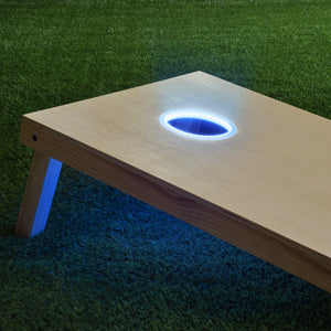 GoSports Cornhole Light Up LED Ring Kit 2pc Set - Compatible with All Cornhole Games - Blue Cornhole playgosports.com