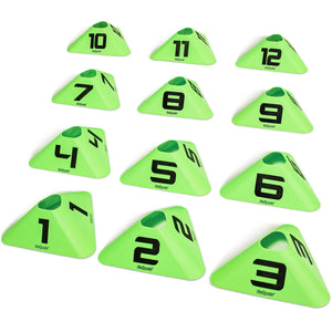 GoSports Modern Sports Cone 12 Pack with Numbers #1-12 Cones playgosports.com