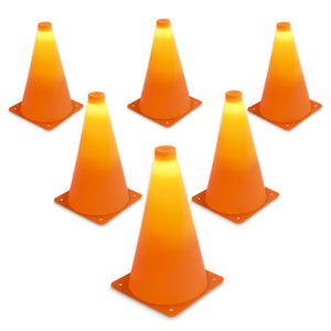 "GoSports LED Light Up Sports Cones (6 Pack), 9"" Cones playgosports.com"