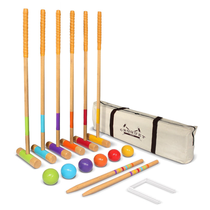 GoSports Deluxe Croquet Set - Full Size for Adults & Kids