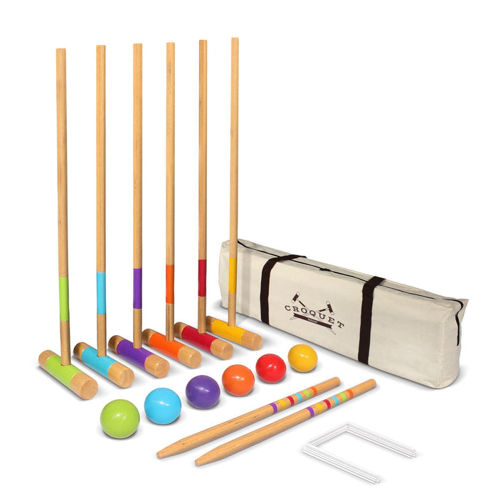 "GoSports Standard Croquet Set - 28"" Mallets for Kids & Adults"