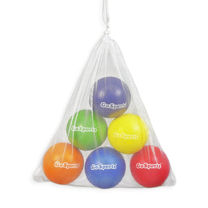 GoSports Strong Skin Foam Playground Dodgeballs - 6 Pack for Juniors/Adults (7 in) - w/ Mesh Carry Bag Playground Ball playgosports.com