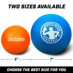 "GoSports 5"" Inflatable Dodgeball 6 Pack - No Sting Balls - Includes Ball Pump & Mesh Bag Playground Ball playgosports.com"