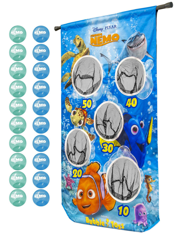 Disney Pixar Finding Nemo Bubble Toss Doorway Game by GoSports | Includes 20 Balls and Adjustable Tension Rod