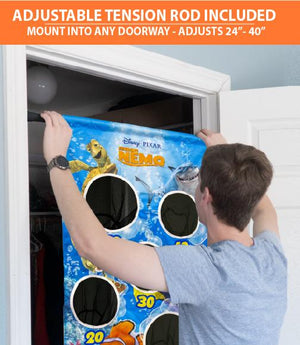 Disney Pixar Finding Nemo Bubble Toss Doorway Game by GoSports | Includes 20 Balls and Adjustable Tension Rod Target Practice playgosports.com