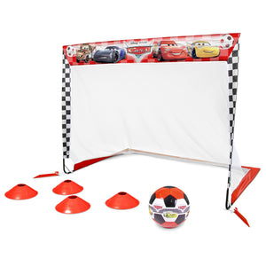 Disney Pixar Cars Soccer Goal Set for Kids by GoSports | Includes 4' x 3' Soccer Goal, Size 3 Soccer Ball and Cones Soccer playgosports.com