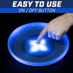 GoSports Ultimate Light Up Flying Disc, 175 grams, with 4 LEDs - Blue Disc playgosports.com