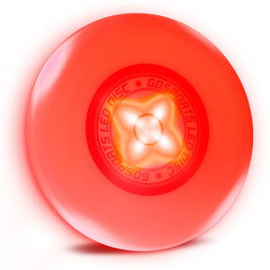 GoSports Ultimate Light Up Flying Disc, 175 grams, with 4 LEDs - Red Disc playgosports.com