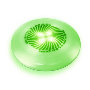 GoSports LED Light Up Flying Ultimate Disc, 175 grams, with 4 LEDs - Green Disc playgosports.com